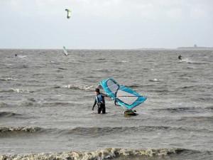 Windsurfer vor dem Strart