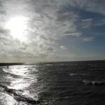 kitesurfer vor dem strand