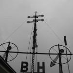 je 8 Windstärken auf Helgoland und Borkum