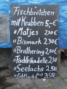 preise fischbroetchen auf dem fischmarkt cuxhaven