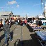 Verkaufsstände auf dem Fischmarkt
