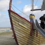 Bug des Abenteuerschiffes fuer Kinder
